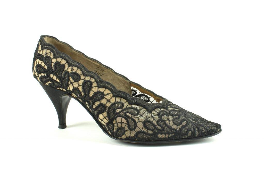 black lace Kitten Heels
