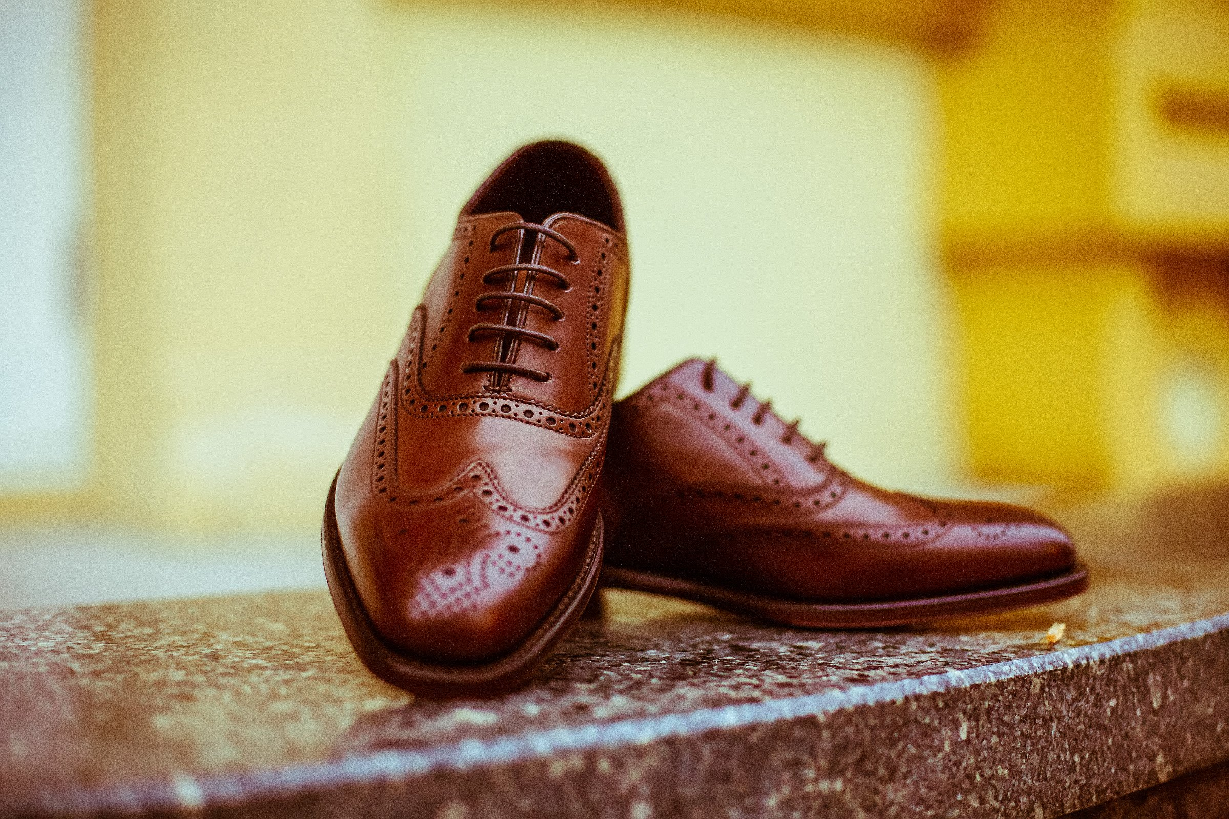 Brown Wingtip Oxfords