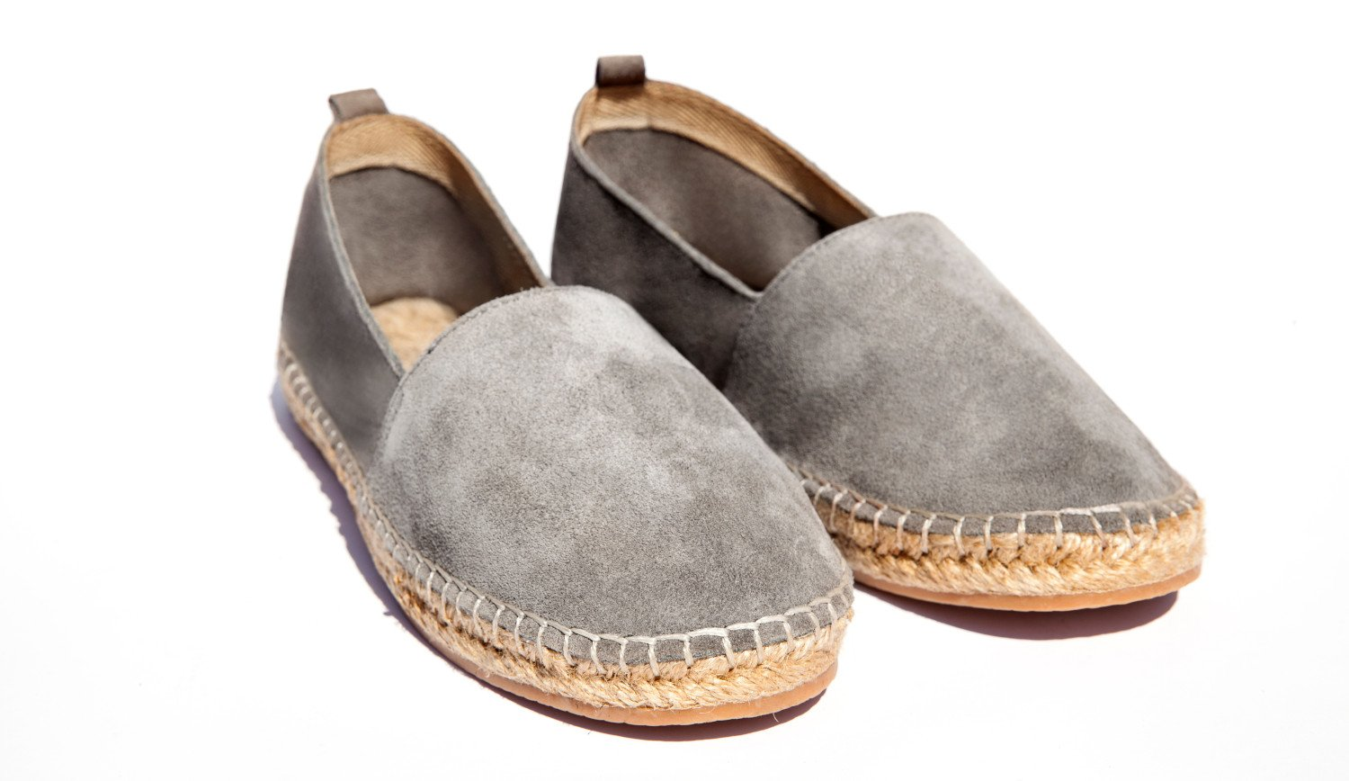 A pair of espadrille shoes