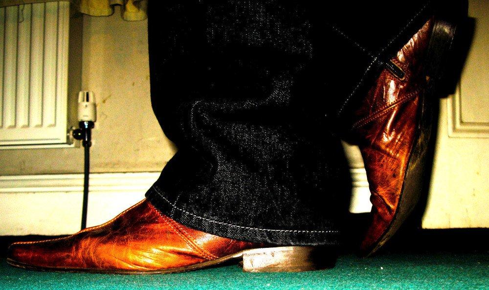 Leather winklepickers