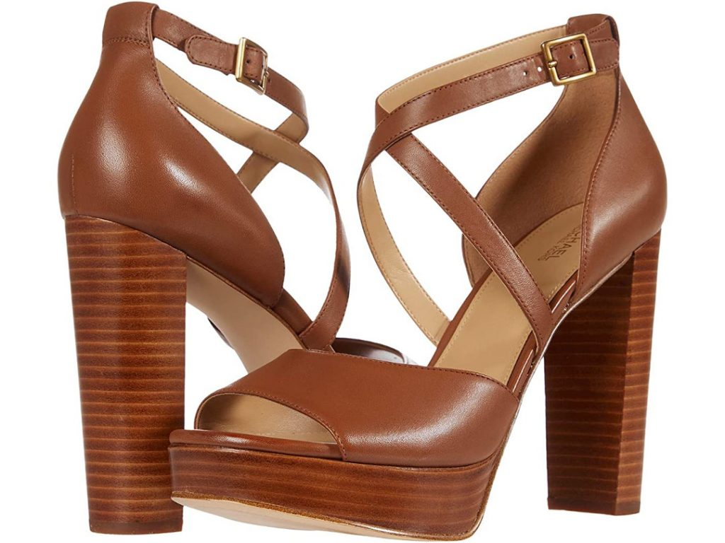 Michael Kors Brown Platform Sandals