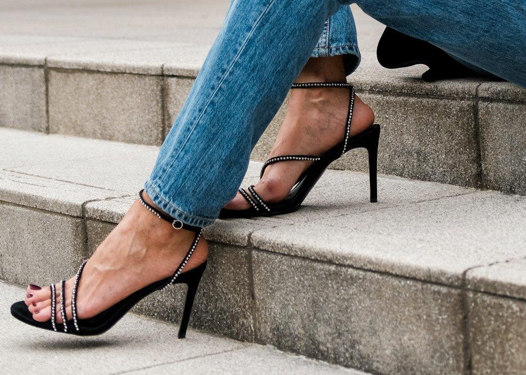 Black Slim Heels