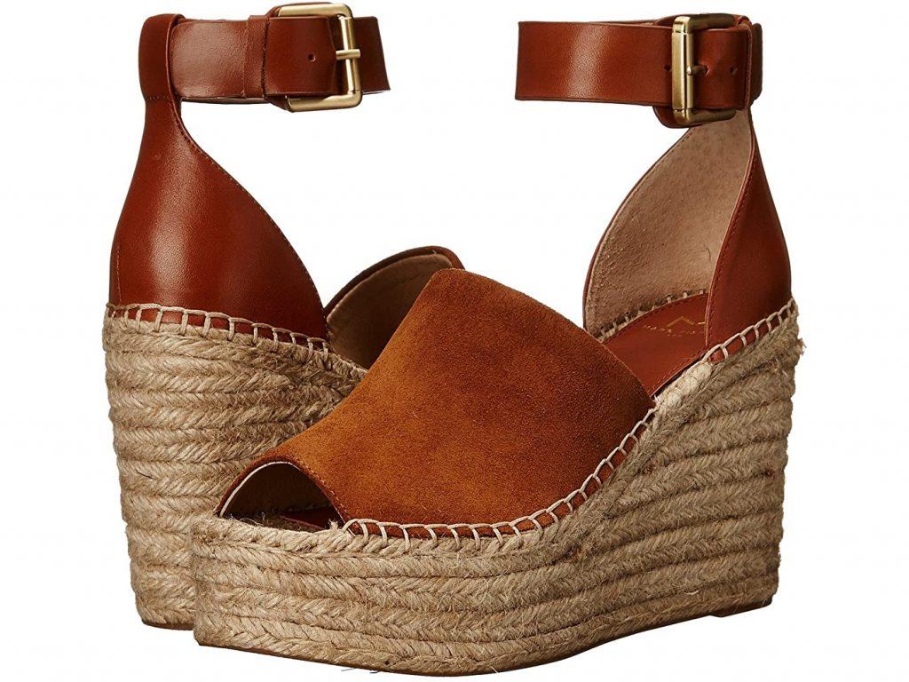 brown wedge sandals (espadrilles)