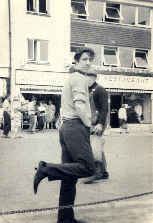 Dad skipping in winklepicker shoes